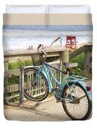 Ill Get My Bike Duvet Cover