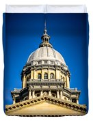 Illinois State Capitol Dome In Springfield Illinois Duvet Cover