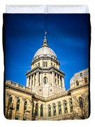 Illinois State Capitol In Springfield Illinois Duvet Cover