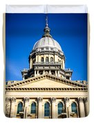 Illinois State Capitol In Springfield Duvet Cover