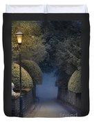 Illumiinated Victorian Street Light Duvet Cover
