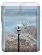 Illuminating Blossoms Duvet Cover