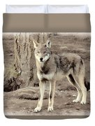 Illusion Of A Wolf Duvet Cover