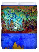 Illusion Of Lake And Forest Duvet Cover
