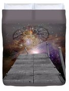 Illusion Of Time Duvet Cover