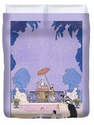 Illustration From A Book Of Fairy Tales Duvet Cover