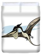 Illustration Of A Pteranodon Dinosaur Duvet Cover