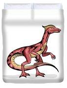 Illustration Of Velociraptor Duvet Cover