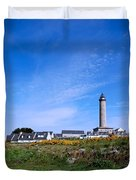 Ils De Batz Lighthouse Duvet Cover
