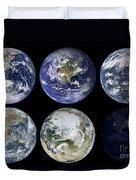 Image Comparison Of Iconic Views Duvet Cover