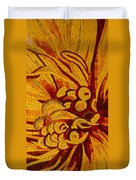 Imagination In Hot Vivid Yellows Duvet Cover