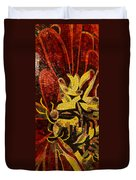 Imagination In Reds And Yellows Duvet Cover