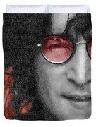 Imagine John Lennon Again Duvet Cover