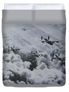 Imagine The Brave Men In These Bombers On A World War II Mission Duvet Cover