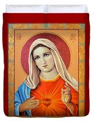 Immaculate Heart Of Mary Duvet Cover