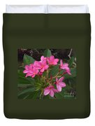 Immaculate Pink Plumerias Duvet Cover