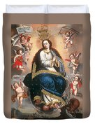 Immaculate Virgin Victorious Over The Serpent Of Heresy Duvet Cover