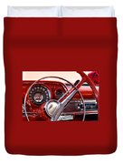 Red Belair With Dice Duvet Cover