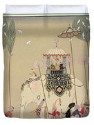 Imperial Procession Duvet Cover by Georges Barbier
