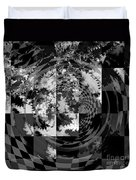 Impossible Reflections B/w Duvet Cover