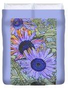Impressionism Sunflowers Duvet Cover