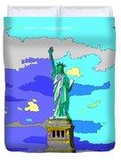 Impressionist Statue Of Liberty Duvet Cover