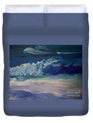 Impressionistic Abstract Wave Duvet Cover