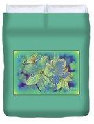Impressionistic Blue Blossoms Duvet Cover