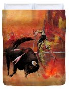 Impressionistic Bullfighting Duvet Cover