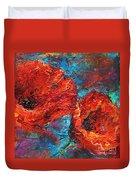 Impressionistic Red Poppies Duvet Cover by Svetlana Novikova