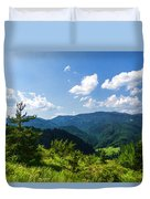 Impressions Of Mountains And Forests And Trees Duvet Cover