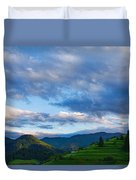 Impressions Of Mountains And Magical Clouds Duvet Cover