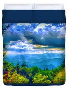 Impressions Of Waterrock Knob On The Blue Ridge Parkway Duvet Cover