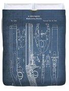 Improvement To Muzzle-loading Fire-arm - Vintage Patent Blueprint Duvet Cover
