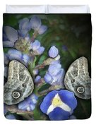 In A Butterfly Garden Two Duvet Cover