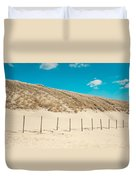 In A Line. Coastal Dunes In Holland Duvet Cover