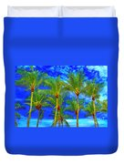 In A World Of Palms Duvet Cover