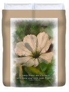 In Every Flower See A Miracle 01 Duvet Cover
