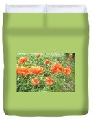In Flanders Fields The Poppies Grow Duvet Cover