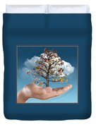 In His Hands Duvet Cover