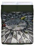 In Memory Of John Lennon - Imagine Duvet Cover