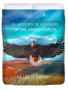 In Memoryof Armed Forces Duvet Cover