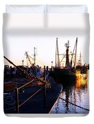In Port For The Night Duvet Cover