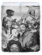 In Praise Of Jazz V Duvet Cover