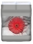 In Strong Hands Duvet Cover