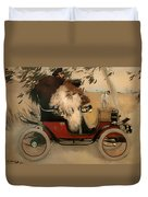 In The Automobile Duvet Cover