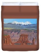 In The Canyonlands Utah Duvet Cover
