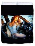 In The Car Duvet Cover