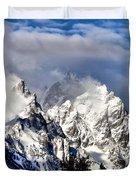 The Teton Range Duvet Cover