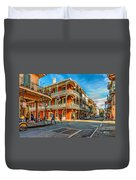 In The French Quarter - Paint Duvet Cover